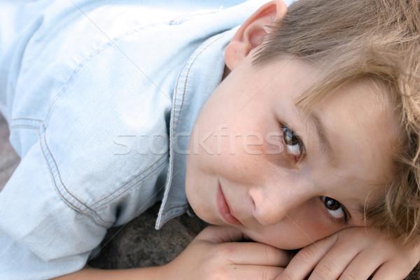 Masum gözler çocuk gülümseme çocuklar gençlik Stok fotoğraf © lovleah
