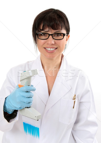 Smiling scientific researcher Stock photo © lovleah