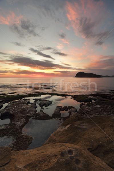 Leeuw eiland groene punt parel strand Stockfoto © lovleah