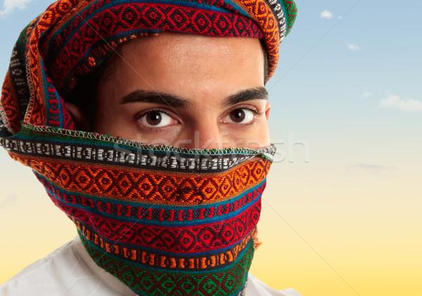 Arab man wearing keffiyeh Stock photo © lovleah