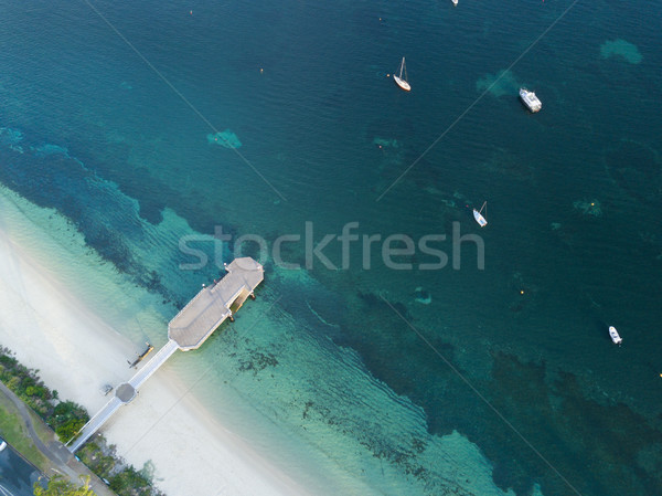 Aerial view of Shoal Bay Jetty Port Stephens Stock photo © lovleah