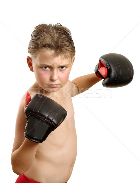 Boy in boxing gloves Stock photo © lovleah