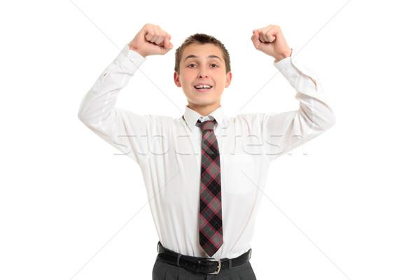 Iskola diák győzelem siker férfi középiskola Stock fotó © lovleah