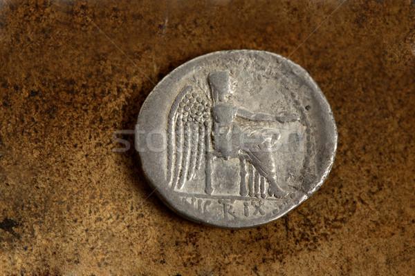 Roman Silver Coin 89 BC Stock photo © lovleah