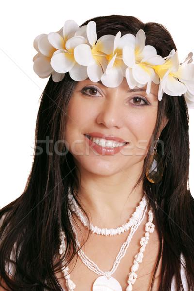 Tropical brunette Stock photo © lovleah