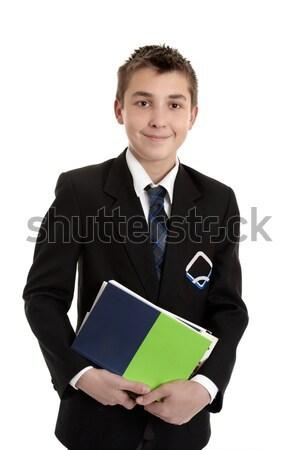Iskola diák szöveg könyvek középiskola visel Stock fotó © lovleah