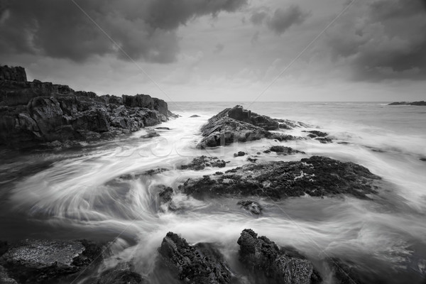 Seascape with moody weather and swirling ocean flows Stock photo © lovleah