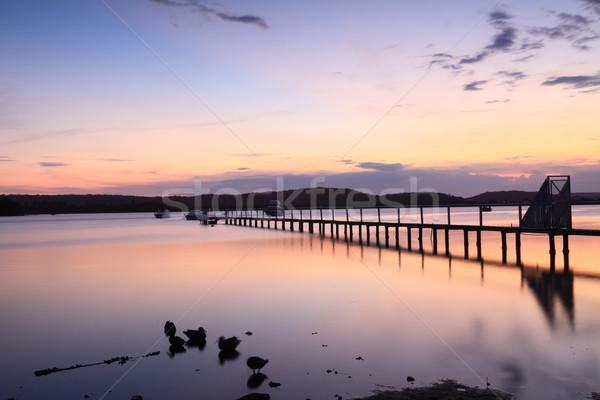 Sundown tranquility Stock photo © lovleah