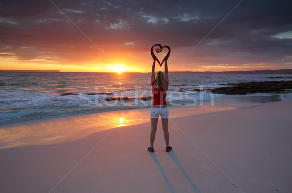 Love Travel Love Jervis Bay Australia in Summer Stock photo © lovleah