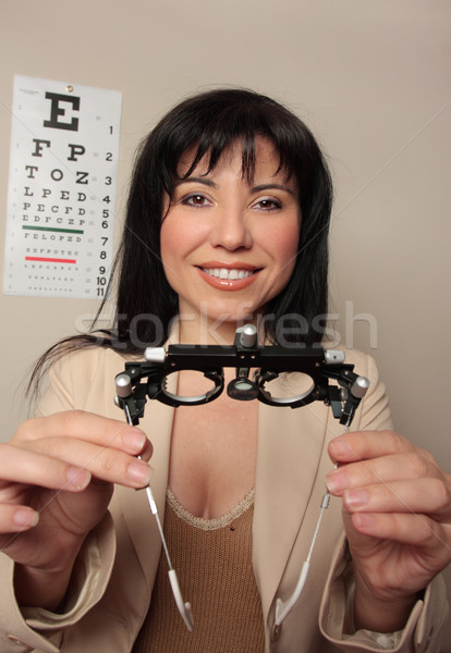 Optometrist eyesight checkup Stock photo © lovleah