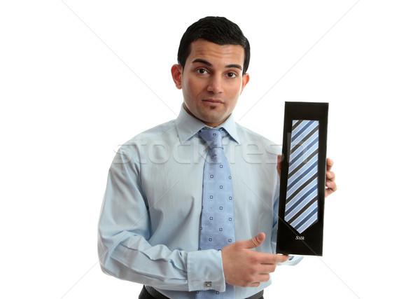 Salesman holding a tie Stock photo © lovleah