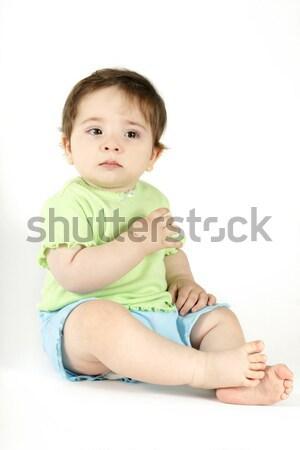 Bebé llorando lágrimas jóvenes casual Foto stock © lovleah