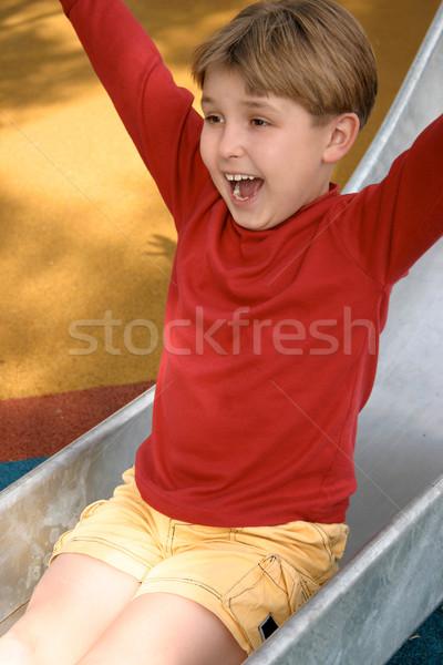 Infância diversão escorregadio deslizar recreio Foto stock © lovleah