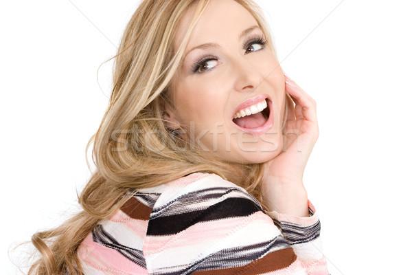 çekici mutlu kaygısız kadın neşeli Stok fotoğraf © lovleah