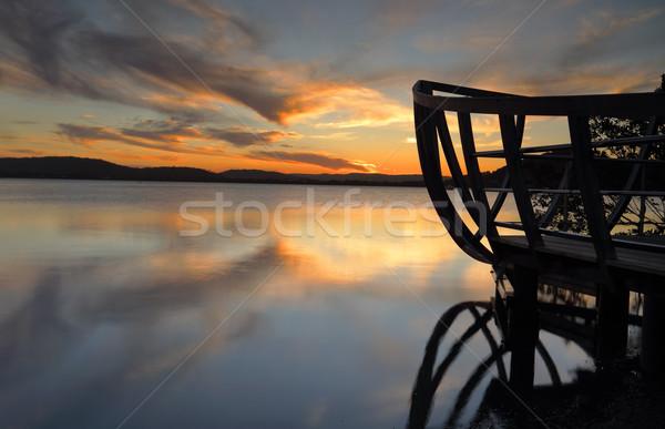 Sunset views from Kincumb er Australia Stock photo © lovleah