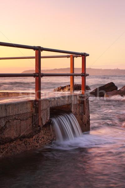 North Curl Curl Pool overflow Stock photo © lovleah