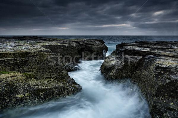 Kuzey kaya kanal okyanus yol konum Stok fotoğraf © lovleah