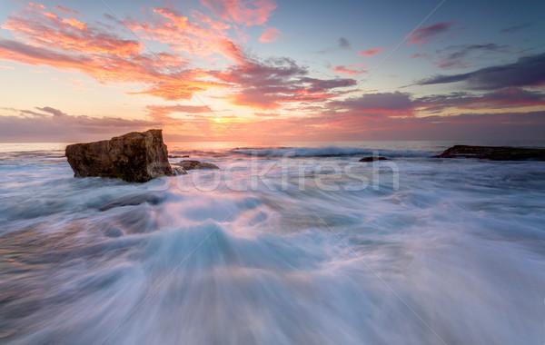 Rock océano norte plataforma naturaleza Foto stock © lovleah