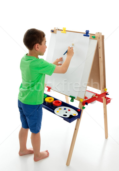 Little boy starting to paint a picture  Stock photo © lovleah