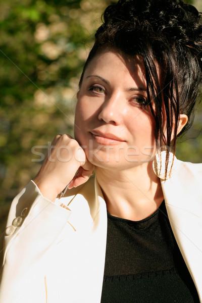 Sunlit Businesswoman Stock photo © lovleah