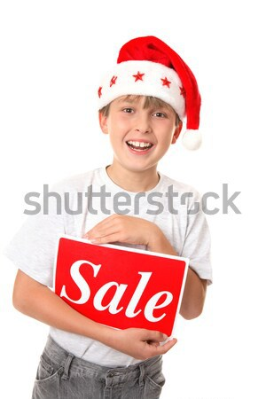 Boy with a Blank Message or Sign Stock photo © lovleah