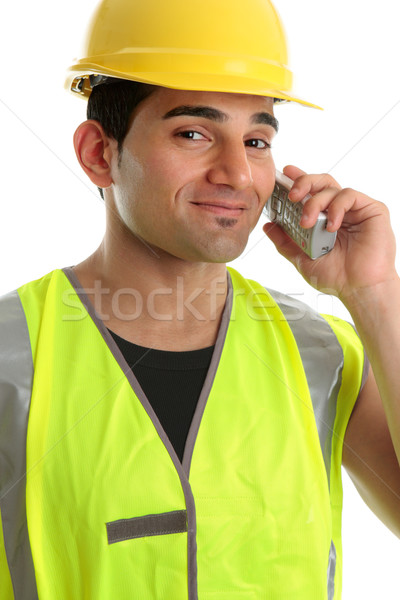 Builder  tradesman on telephone Stock photo © lovleah