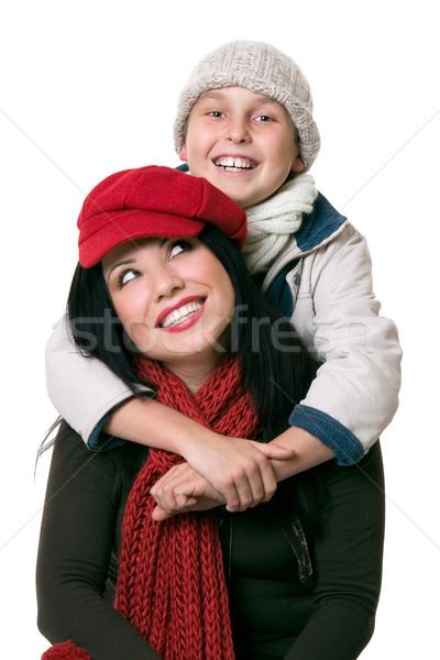 Heureux parental relations mère enfant amusement Photo stock © lovleah