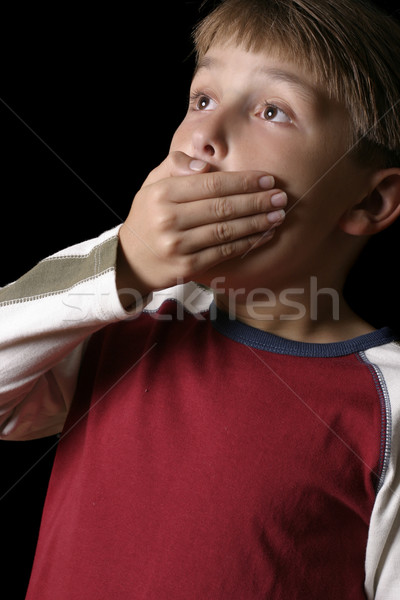 Boy expression - Spine Tingling Chilling Stock photo © lovleah