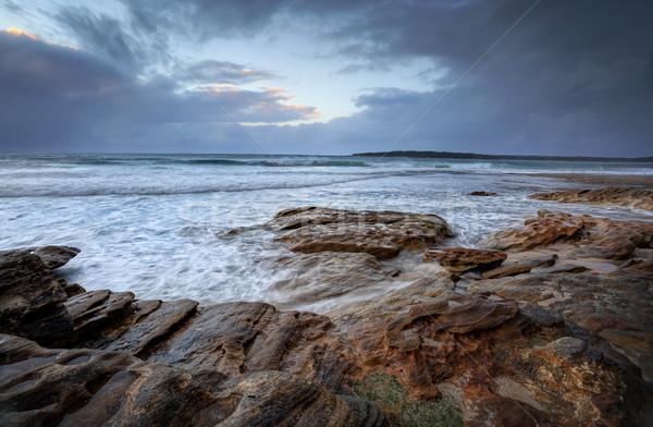Oak Park, Cronulla on a rainy day with choppyn seas Stock photo © lovleah