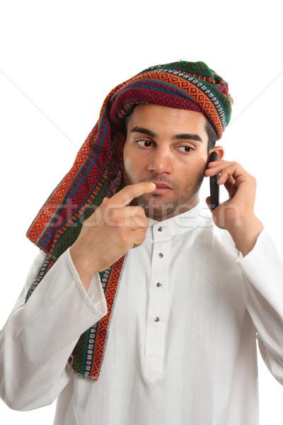 Pondering arab businessman Stock photo © lovleah