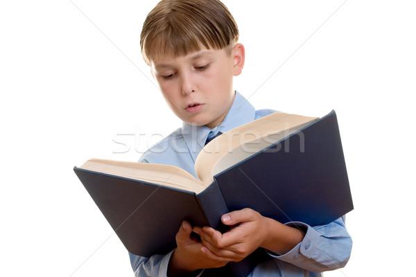 Onderwijs geletterdheid lezing kind student kid Stockfoto © lovleah