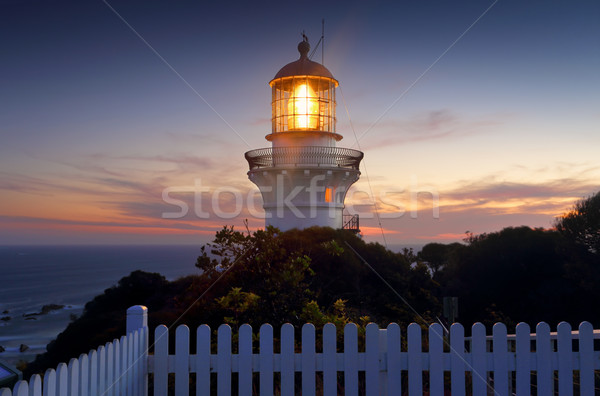 Sugarloaf Point  Lighthouse at sundown Stock photo © lovleah