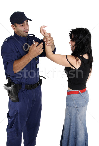 Handcuffing a ciminal Stock photo © lovleah