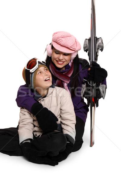 Familie ski reis vakantie liefhebbend moeder Stockfoto © lovleah