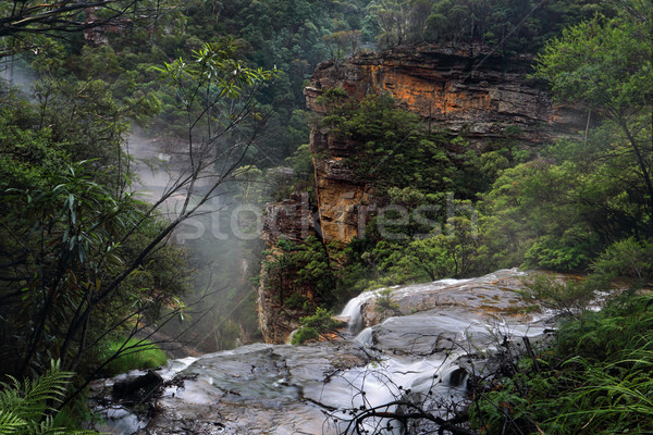 Flowing over the ledge at Wentworth Falls Stock photo © lovleah