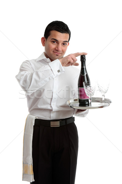 Bartender recommending wine Stock photo © lovleah