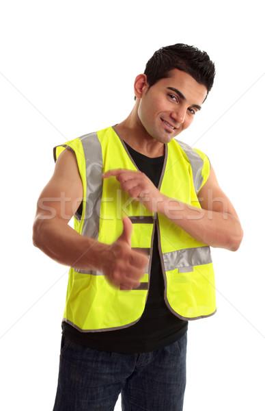 Cool handlowiec sukces młodych pracownik budowlany Zdjęcia stock © lovleah