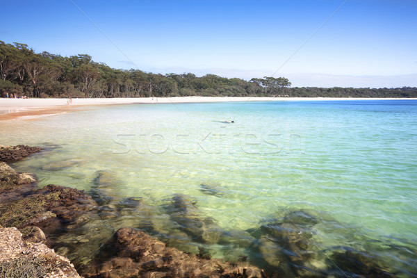 The Southern end of Green Patch Beach Australia Stock photo © lovleah