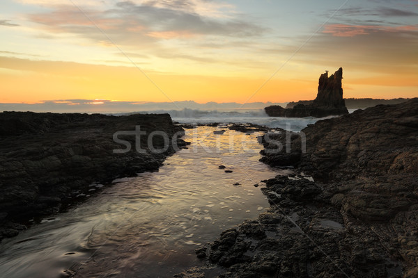 Cathedral Rocks, Kiama, Australia Stock photo © lovleah