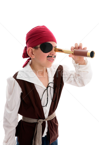 Pirate looking through scope Stock photo © lovleah