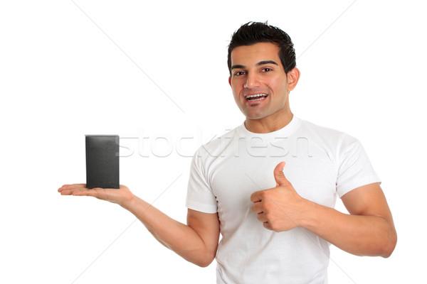 Consumidor vendedor produto aprovação feliz Foto stock © lovleah