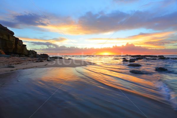 Stockfoto: Zonsopgang · ochtend · strand · Australië · mooie