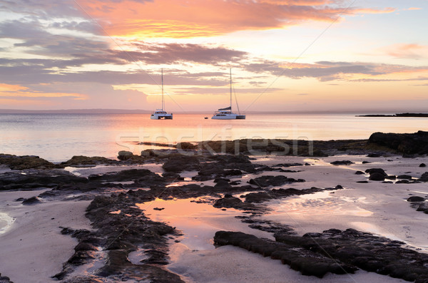 Luxury and serenity catamarans at Cabbage Tree Beach Jervis Bay Stock photo © lovleah