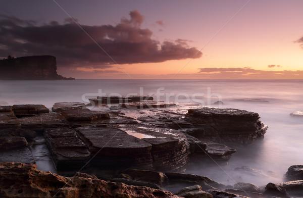 świcie poświata długi czas ekspozycji w dół skał napomknąć Zdjęcia stock © lovleah