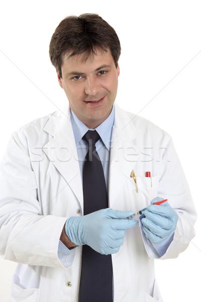 Médico jeringa médico dosis medicina vacuna Foto stock © lovleah
