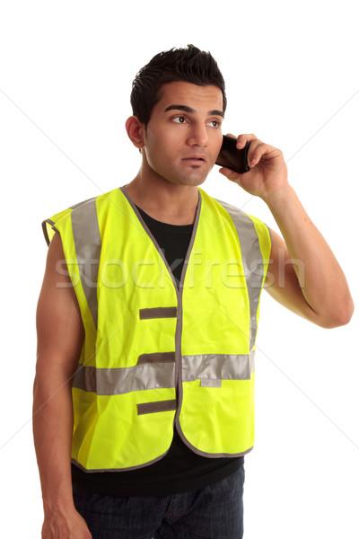 Construtor chamar telefone móvel Foto stock © lovleah