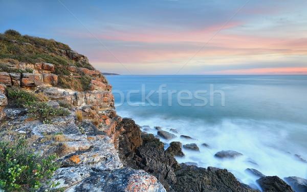 Coastal seascape views on dusk Australia  Stock photo © lovleah