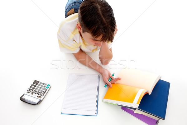 Studie tijd perspectief witte vloer Stockfoto © lovleah