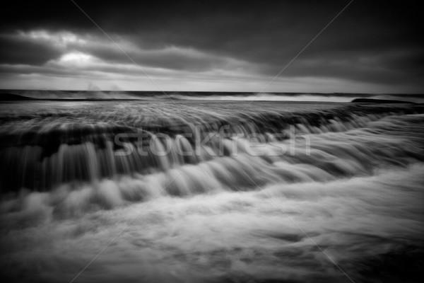 Australië oceaan lange blootstelling beweging strand Stockfoto © lovleah