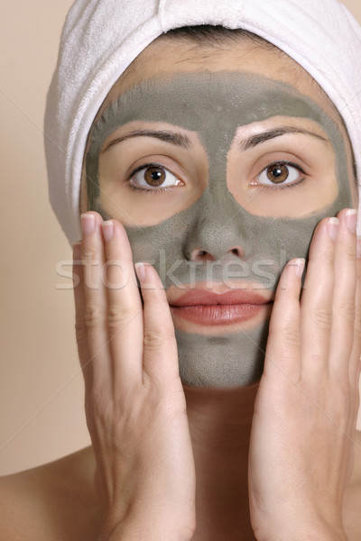 Beauty seaweed beauty mask Stock photo © lovleah